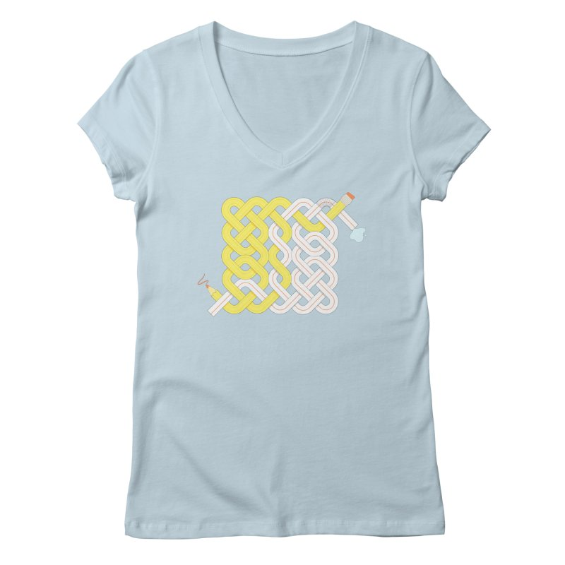 Exstrawdinary Drawing. Women's Regular V-Neck by Cumulo 7