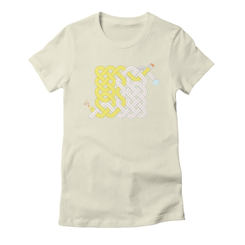 Exstrawdinary Drawing. Women's Fitted T-Shirt by cumulo7's Artist Shop
