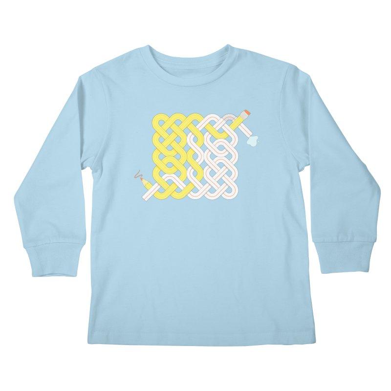 Exstrawdinary Drawing. Kids Longsleeve T-Shirt by Cumulo 7