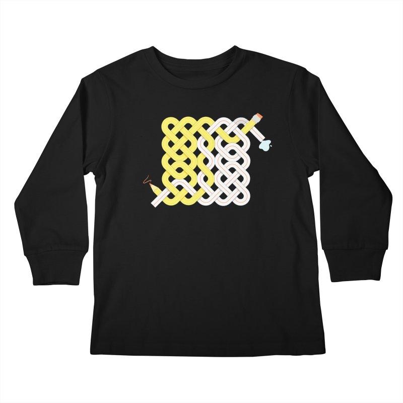 Exstrawdinary Drawing. Kids Longsleeve T-Shirt by cumulo7's Artist Shop