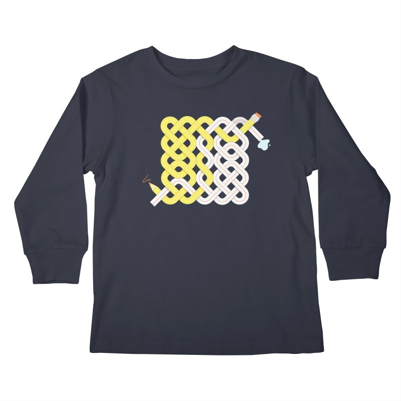 Exstrawdinary Drawing. Kids Longsleeve T-Shirt by Cumulo 7