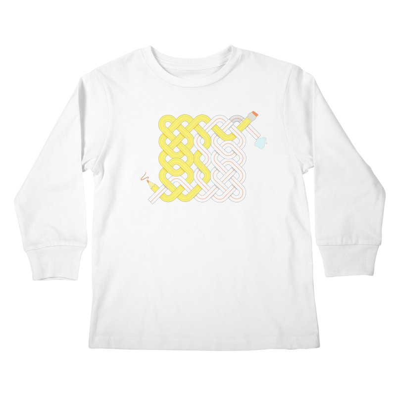 Exstrawdinary Drawing. Kids Longsleeve T-Shirt by cumulo7's Artist Shop