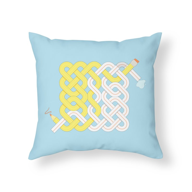 Exstrawdinary Drawing. Home Throw Pillow by cumulo7's Artist Shop