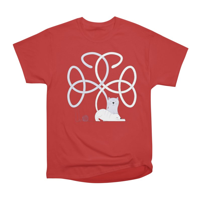 Cats Women's Heavyweight Unisex T-Shirt by cumulo7's Artist Shop
