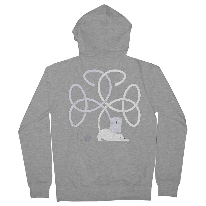 Cats Men's French Terry Zip-Up Hoody by cumulo7's Artist Shop