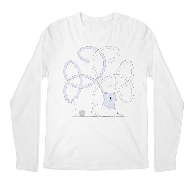 Cats Men's Regular Longsleeve T-Shirt by cumulo7's Artist Shop