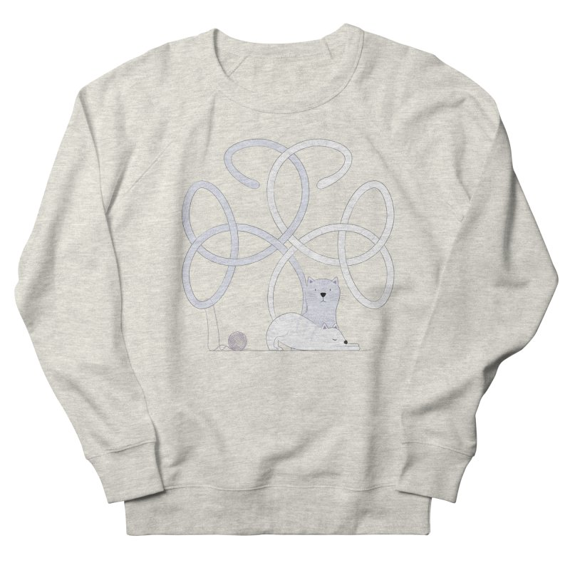 Cats Men's French Terry Sweatshirt by Cumulo 7