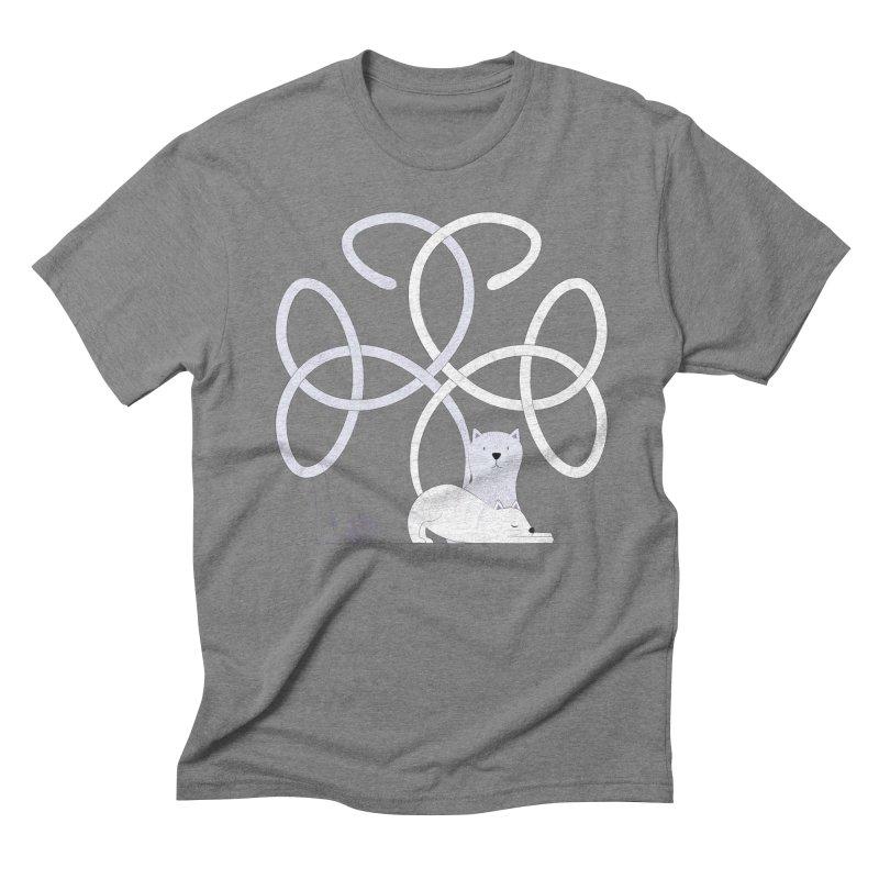 Cats Men's Triblend T-shirt by cumulo7's Artist Shop