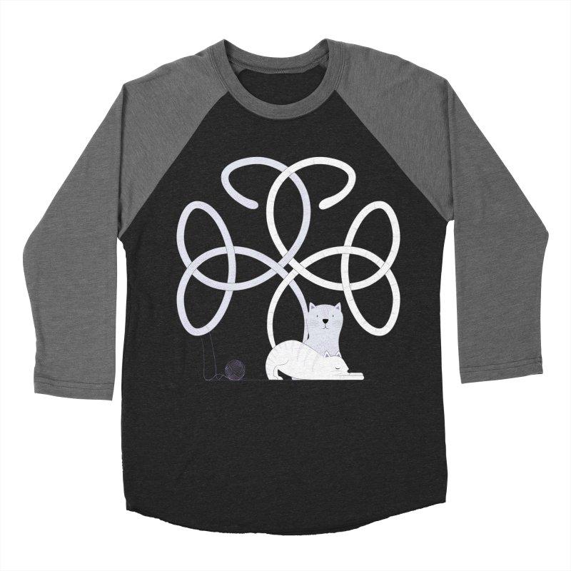 Cats Men's Baseball Triblend Longsleeve T-Shirt by cumulo7's Artist Shop