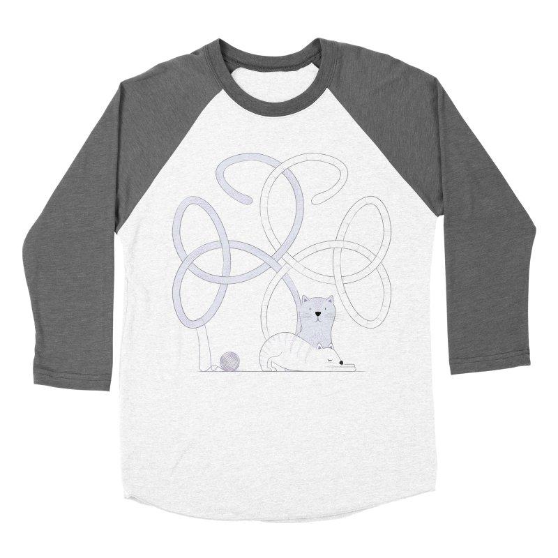 Cats Men's Baseball Triblend T-Shirt by cumulo7's Artist Shop