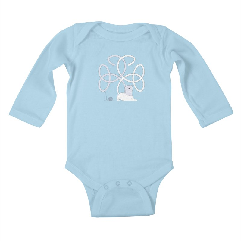 Cats Kids Baby Longsleeve Bodysuit by cumulo7's Artist Shop