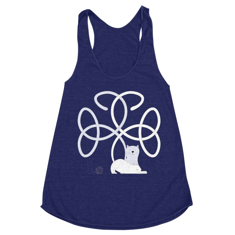 Cats Women's Racerback Triblend Tank by Cumulo 7