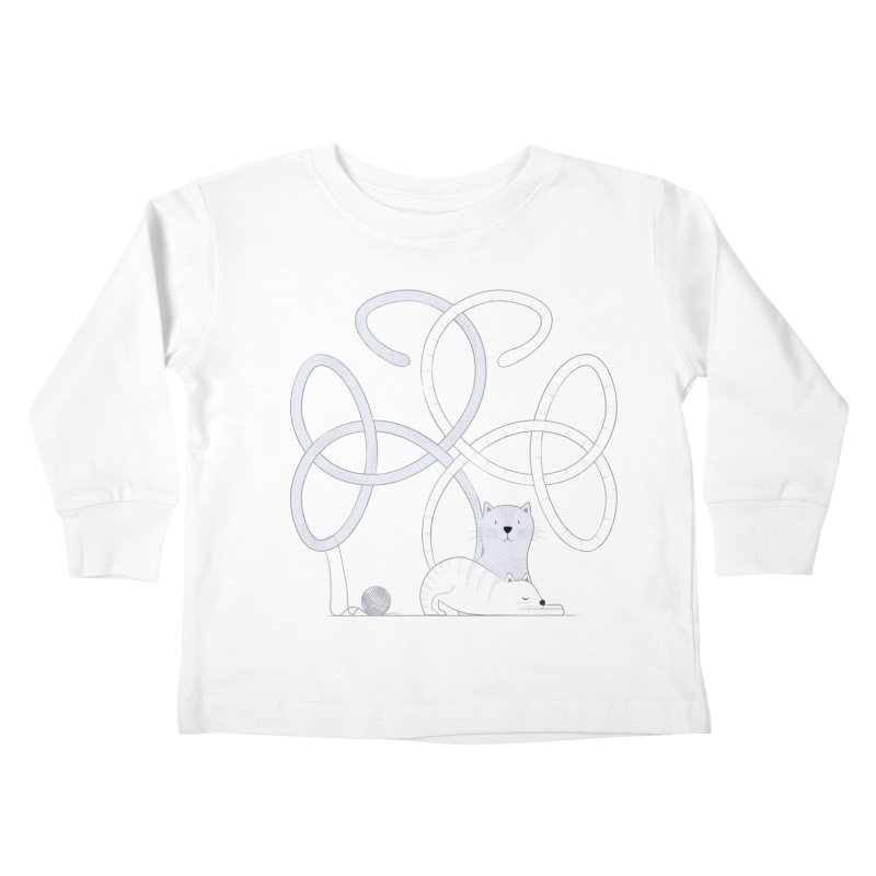 Cats Kids Toddler Longsleeve T-Shirt by cumulo7's Artist Shop