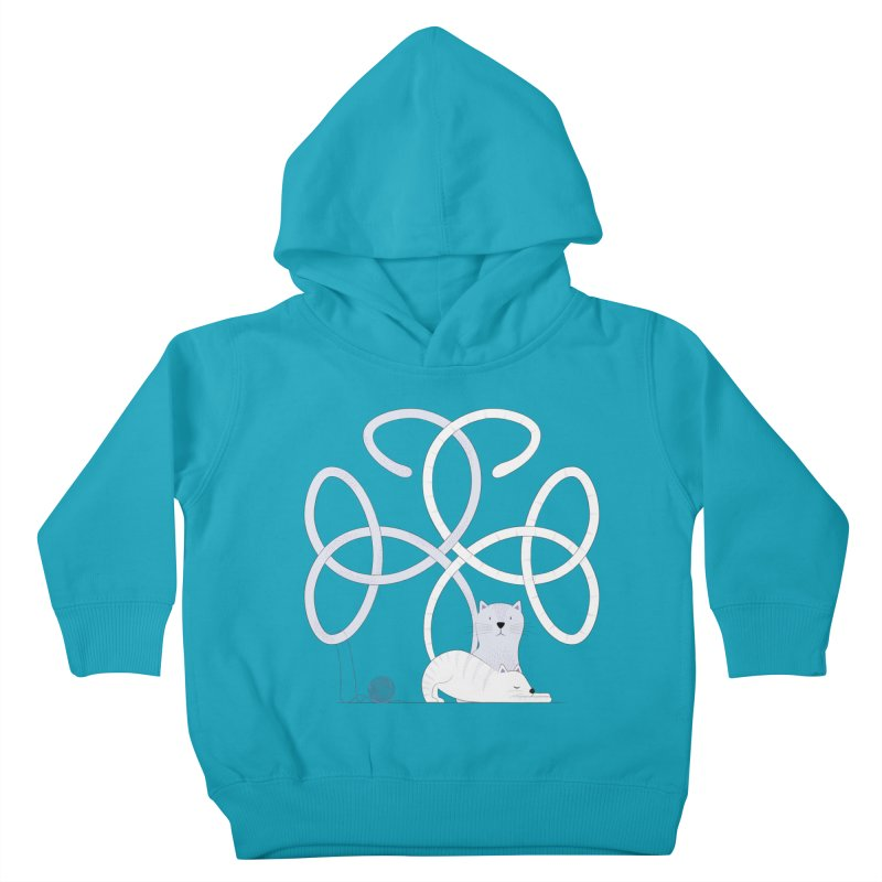 Cats Kids Toddler Pullover Hoody by cumulo7's Artist Shop