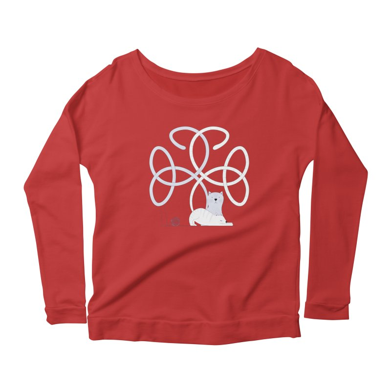 Cats Women's Scoop Neck Longsleeve T-Shirt by cumulo7's Artist Shop