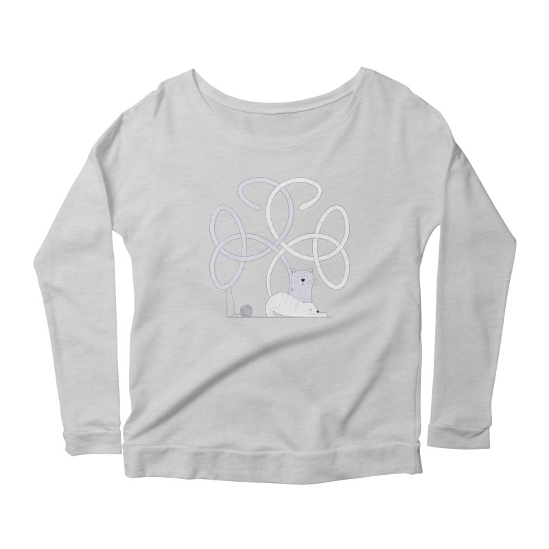 Cats Women's Scoop Neck Longsleeve T-Shirt by Cumulo 7