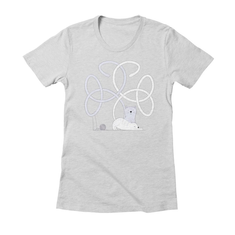 Cats Women's Fitted T-Shirt by cumulo7's Artist Shop