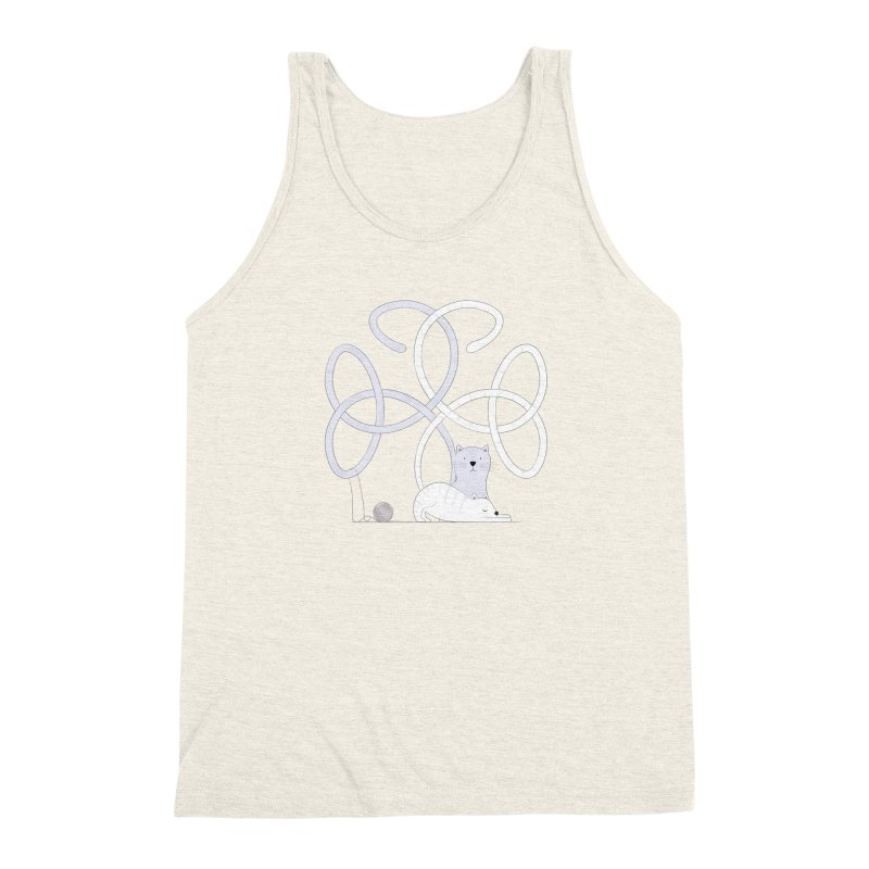 Cats Men's Triblend Tank by cumulo7's Artist Shop
