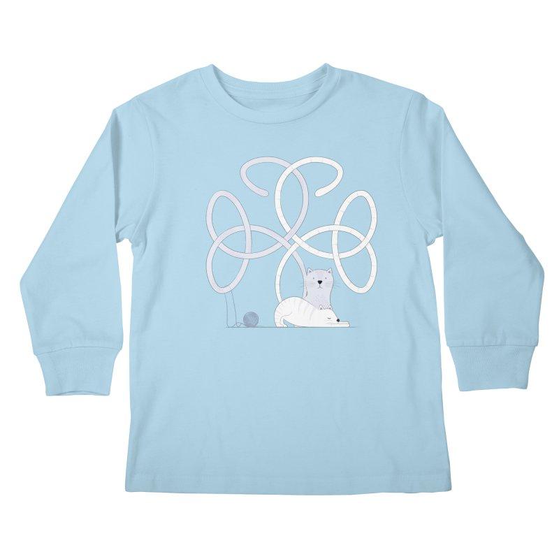Cats Kids Longsleeve T-Shirt by cumulo7's Artist Shop
