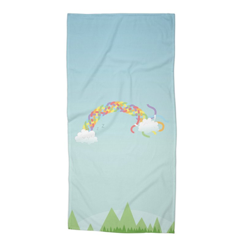 Cheeky Cloud Accessories Beach Towel by cumulo7's Artist Shop