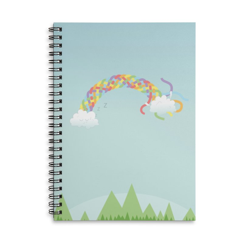 Cheeky Cloud Accessories Lined Spiral Notebook by Cumulo 7