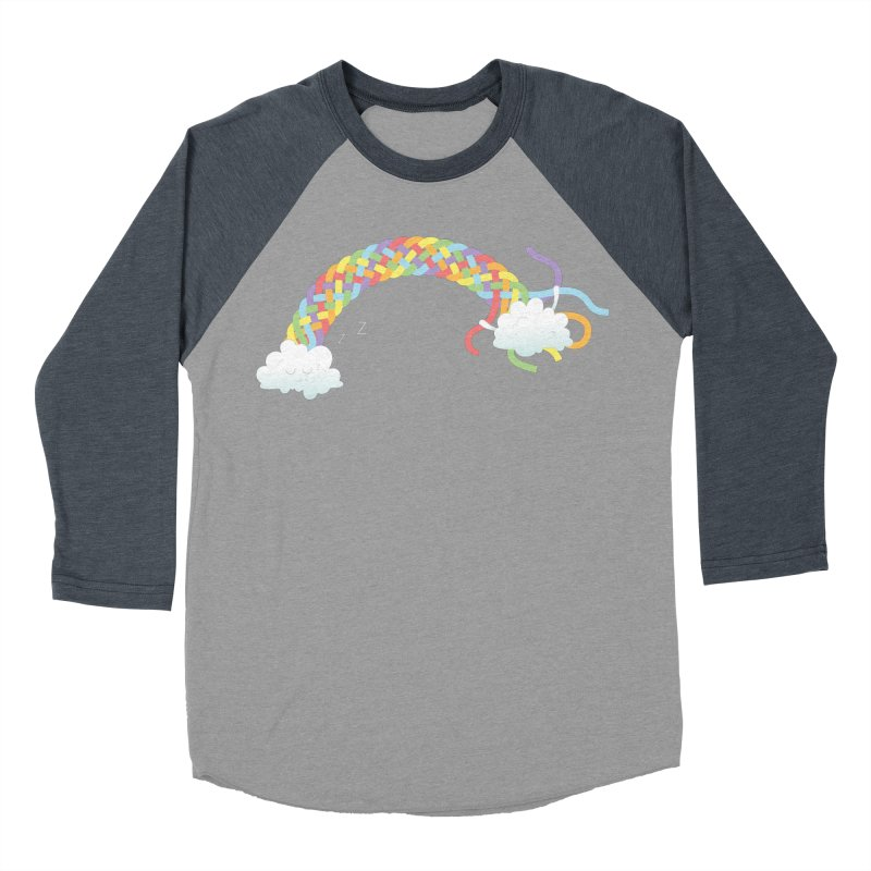 Cheeky Cloud Men's Baseball Triblend Longsleeve T-Shirt by Cumulo 7