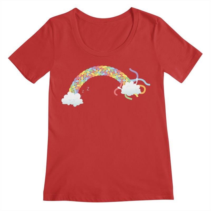 Cheeky Cloud Women's Regular Scoop Neck by Cumulo 7