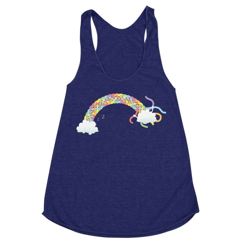 Cheeky Cloud Women's Racerback Triblend Tank by Cumulo 7