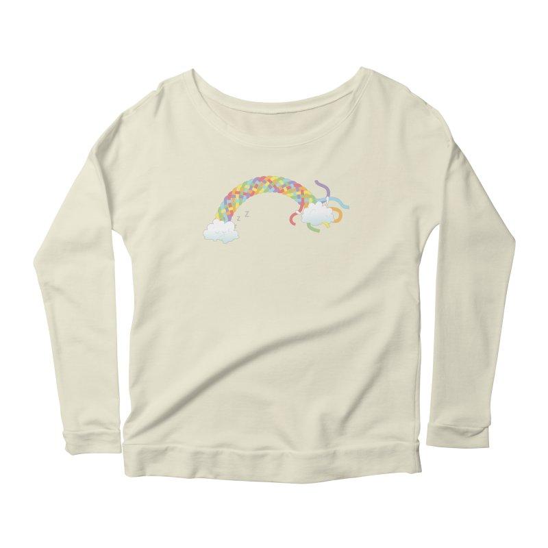 Cheeky Cloud Women's Longsleeve Scoopneck  by cumulo7's Artist Shop