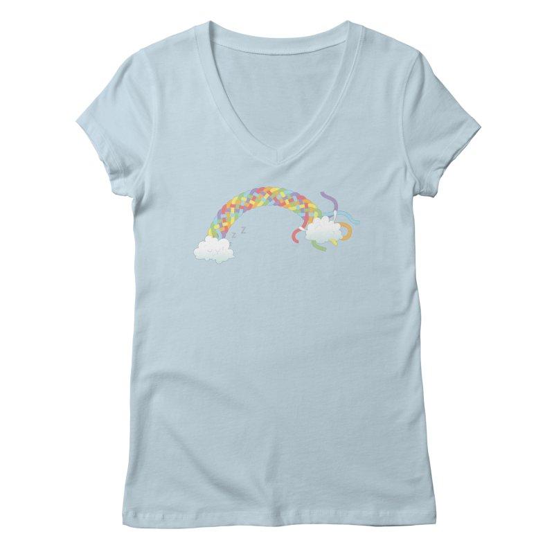 Cheeky Cloud Women's Regular V-Neck by Cumulo 7
