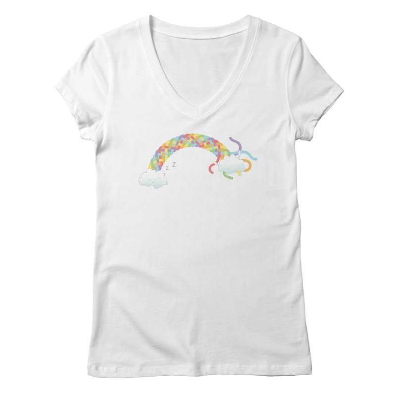 Cheeky Cloud Women's V-Neck by cumulo7's Artist Shop