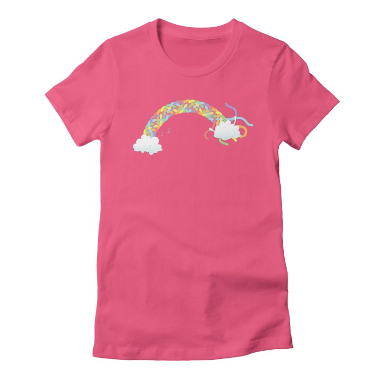 Cheeky Cloud Women's Fitted T-Shirt by cumulo7's Artist Shop