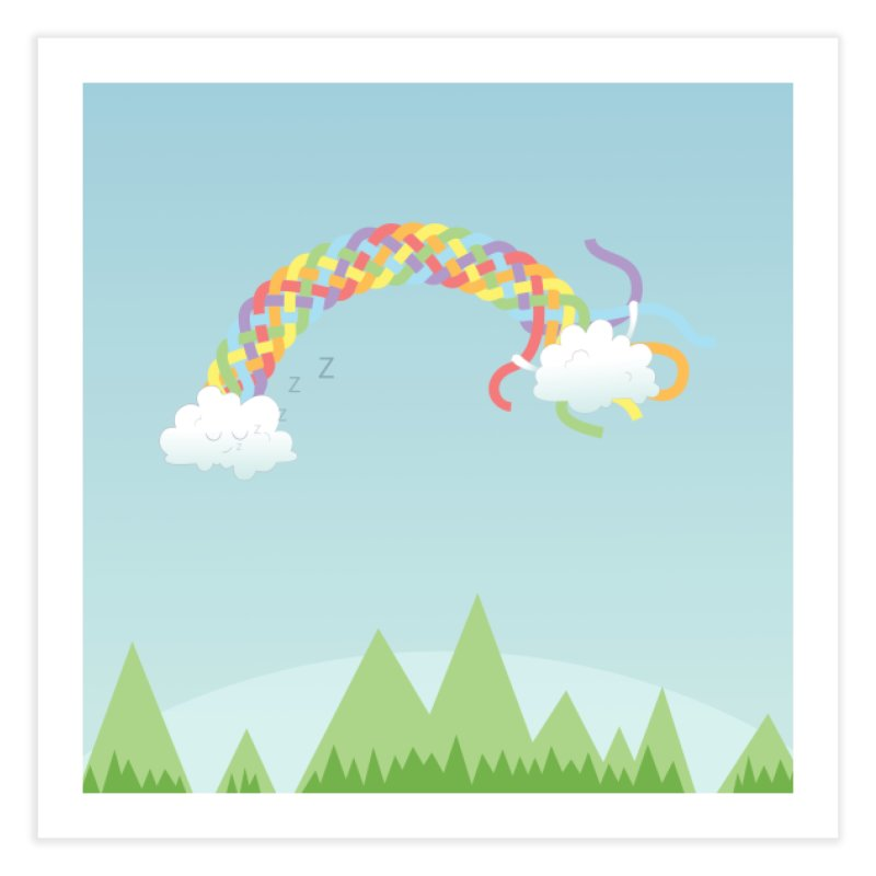 Cheeky Cloud Home Fine Art Print by Cumulo 7