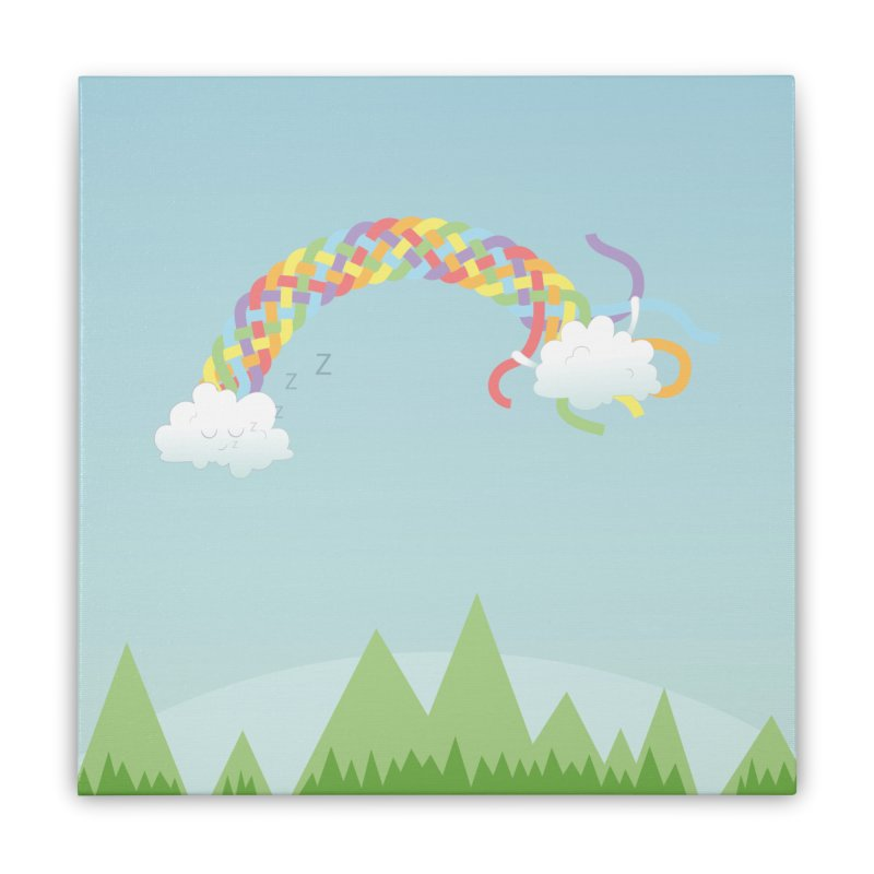 Cheeky Cloud Home Stretched Canvas by cumulo7's Artist Shop