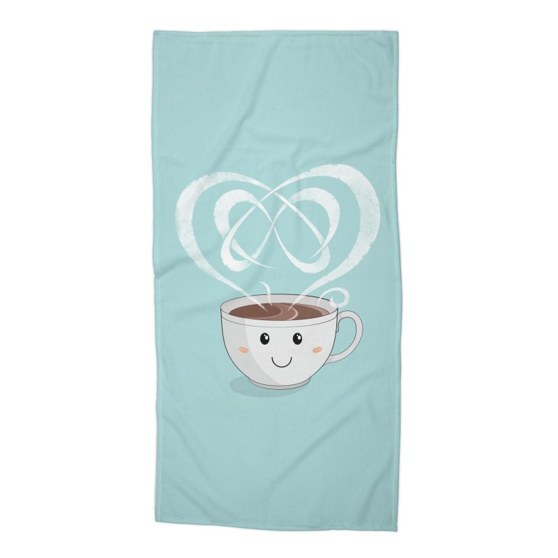 Coffee Lover Accessories Beach Towel by cumulo7's Artist Shop