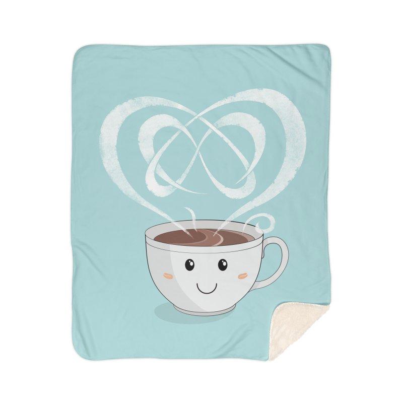 Coffee Lover Home Sherpa Blanket Blanket by Cumulo 7