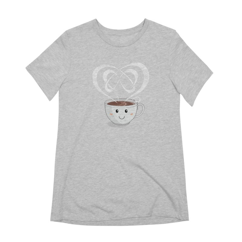 Coffee Lover Women's Extra Soft T-Shirt by cumulo7's Artist Shop
