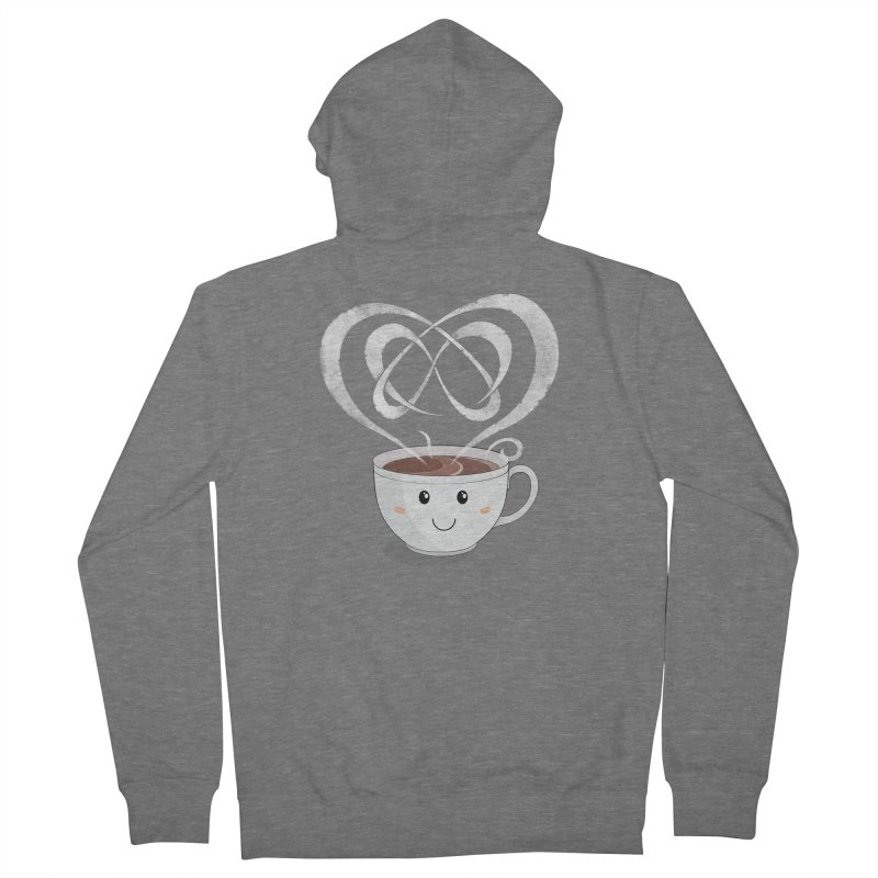 Coffee Lover Women's French Terry Zip-Up Hoody by Cumulo 7