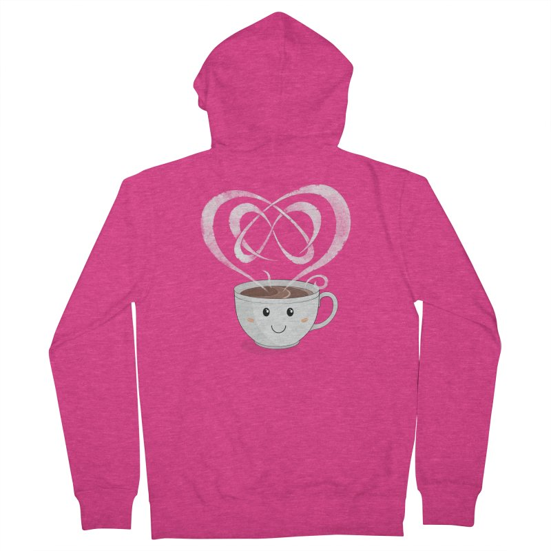 Coffee Lover Women's French Terry Zip-Up Hoody by cumulo7's Artist Shop