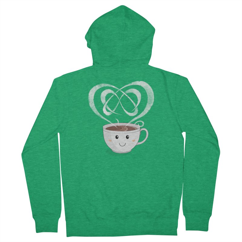 Coffee Lover Men's French Terry Zip-Up Hoody by cumulo7's Artist Shop