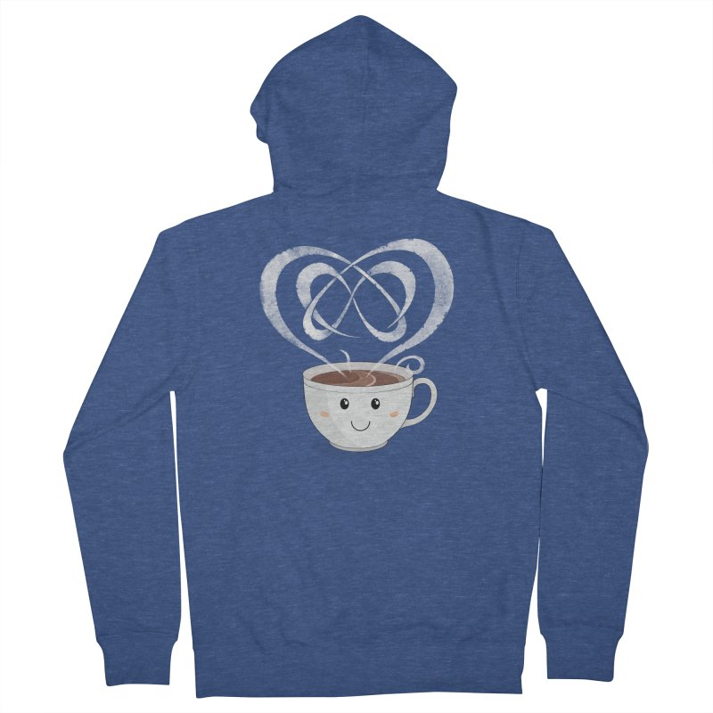 Coffee Lover Men's French Terry Zip-Up Hoody by Cumulo 7