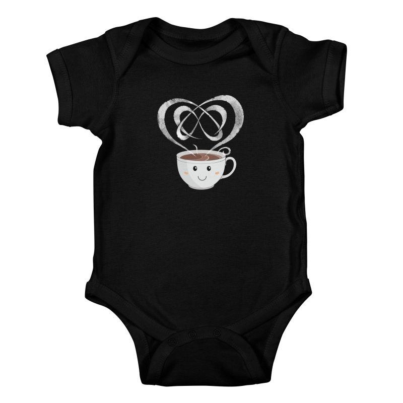 Coffee Lover Kids Baby Bodysuit by Cumulo 7