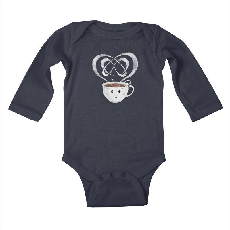 Coffee Lover Kids Baby Longsleeve Bodysuit by Cumulo 7