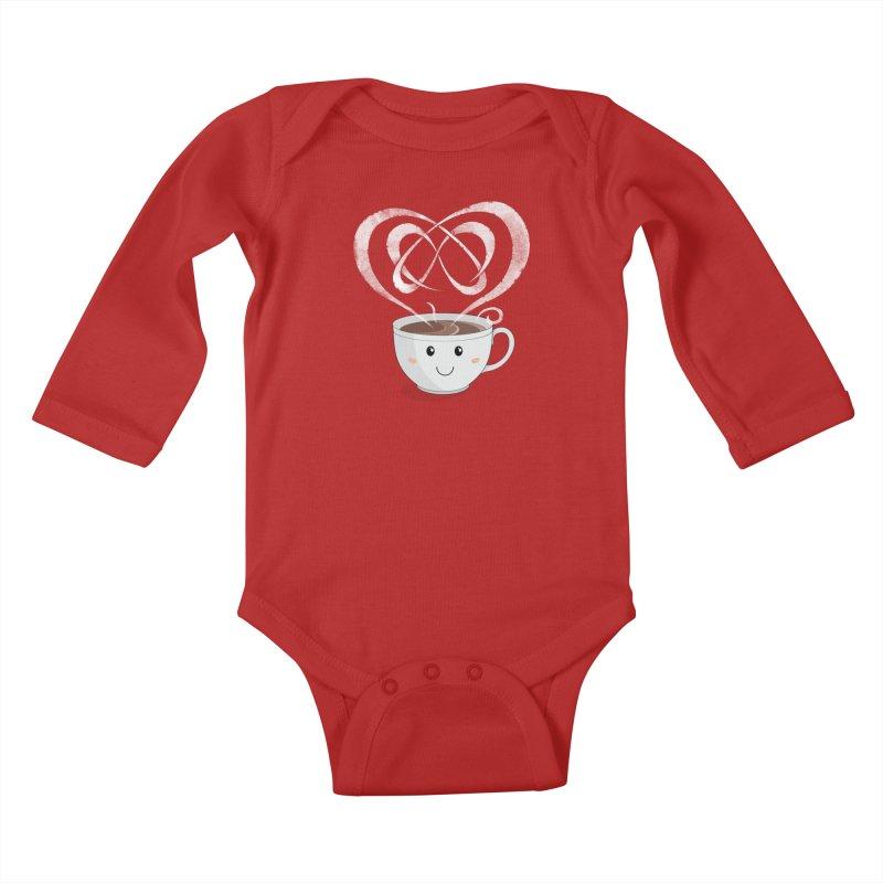 Coffee Lover Kids Baby Longsleeve Bodysuit by cumulo7's Artist Shop