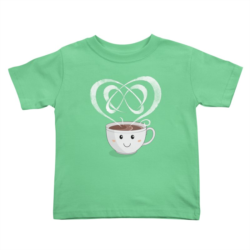 Coffee Lover Kids Toddler T-Shirt by cumulo7's Artist Shop