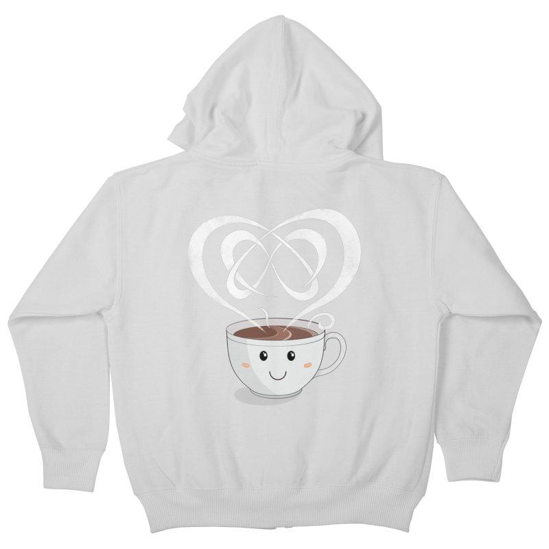 Coffee Lover Kids Zip-Up Hoody by cumulo7's Artist Shop