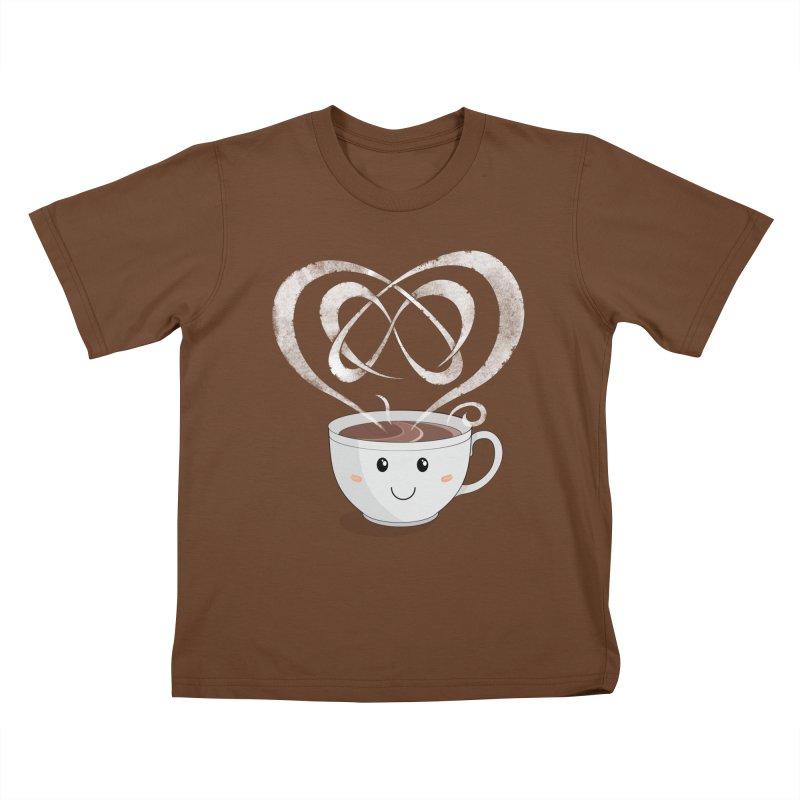 Coffee Lover Kids T-Shirt by cumulo7's Artist Shop