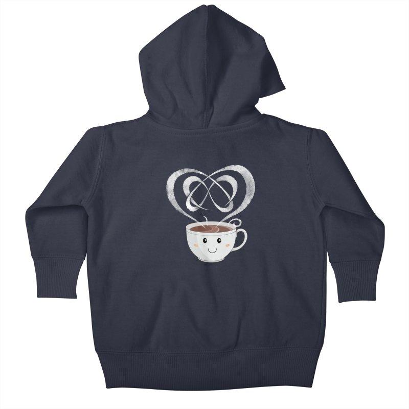 Coffee Lover Kids Baby Zip-Up Hoody by Cumulo 7