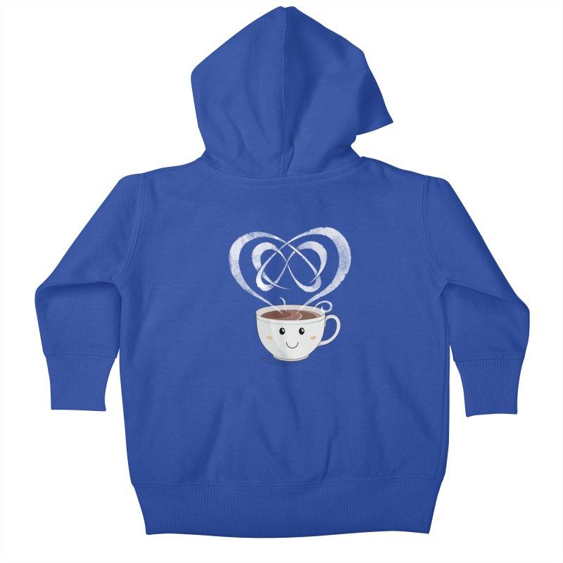 Coffee Lover Kids Baby Zip-Up Hoody by cumulo7's Artist Shop