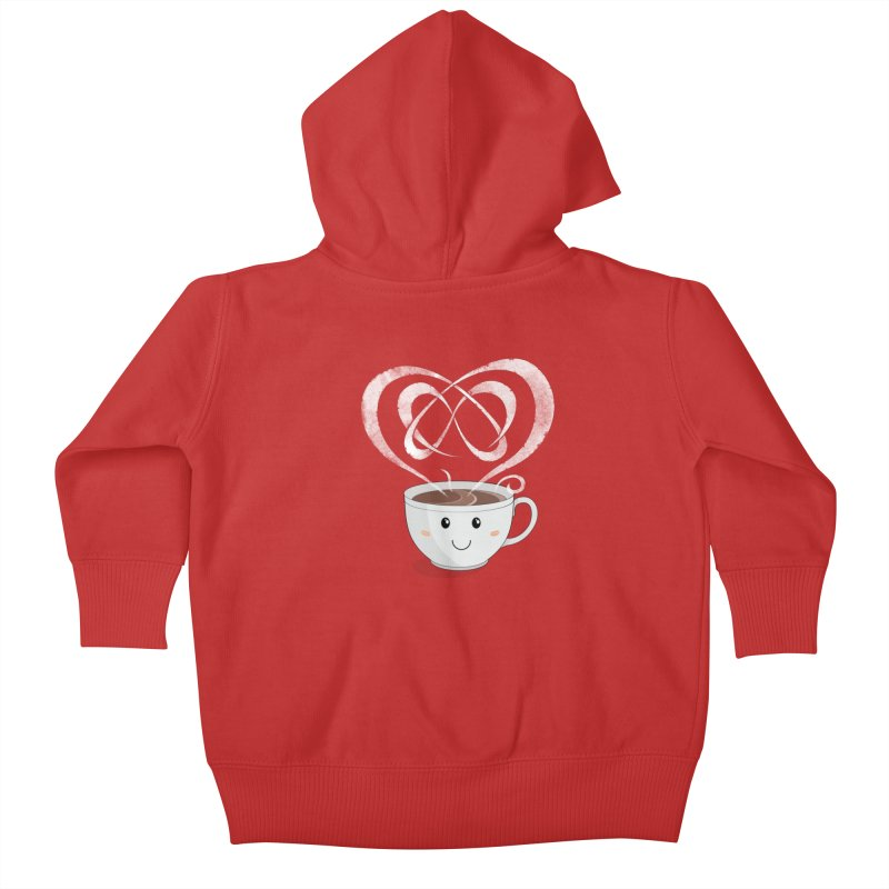 Coffee Lover Kids Baby Zip-Up Hoody by cumulo7's Artist Shop